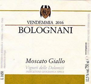 Bolognani Moscato Giallo
