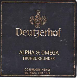 Deutzerhof Alpha & Omega