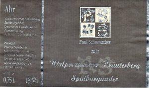 Schumacher Paul Kräuterberg PN