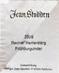 Stodden Jean Herrenberg Frühburgunder
